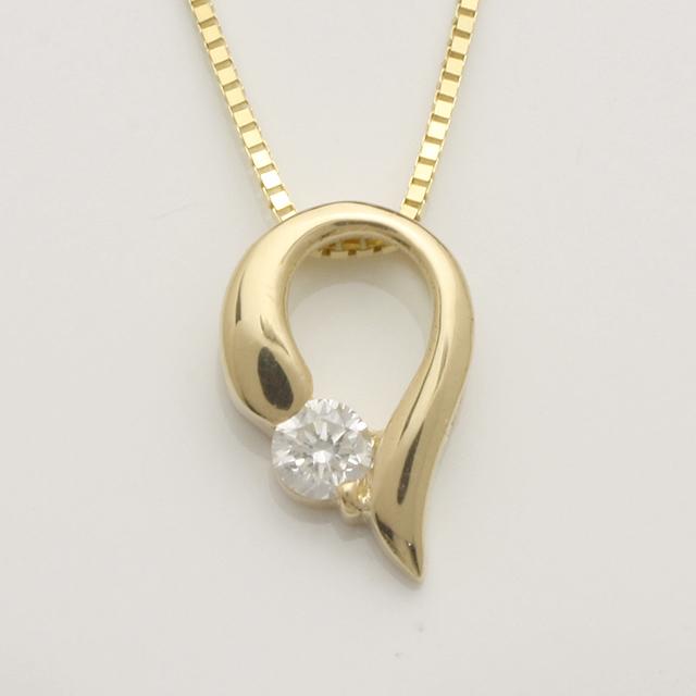 「あす楽対応」 1粒 ダイヤペンダント ネックレス K18 18金 ゴールド「4P0120」【送料無料】 *