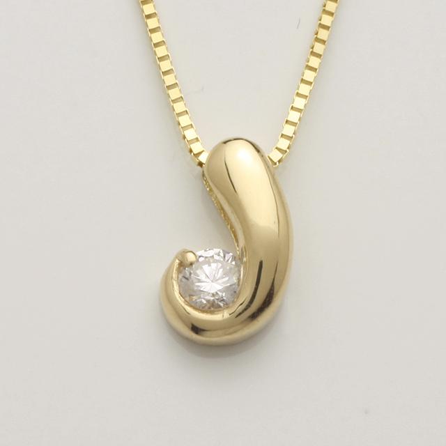 「あす楽対応」 1粒 ダイヤモンド ペンダント ネックレス K18 18金 ゴールド「4P0126」【送料無料】 *