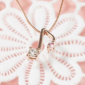 8分音符 音楽 ダイヤモンド ピンクサファイア ペンダント ネックレス K18PG「4P0088PG」【送料無料】18金ピンクゴールドがCuteな音符を描きダイヤモンドとピンクサファイアがキラキラ輝き奏でます。 *