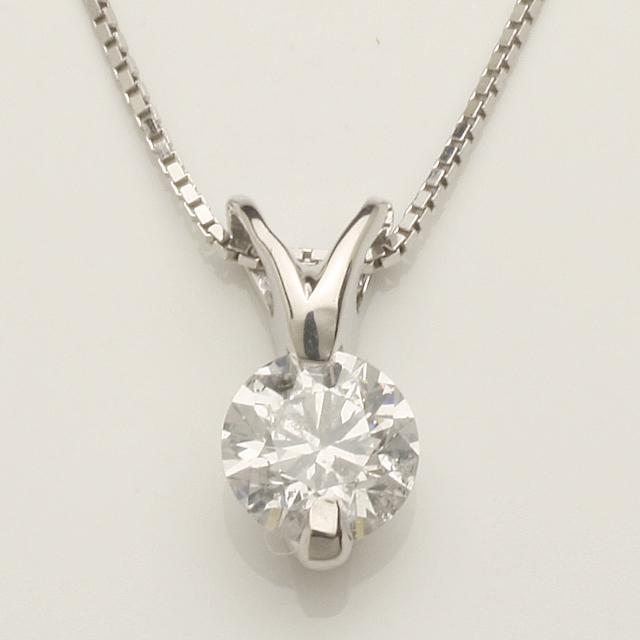 「あす楽対応」0.3ct 1粒 ダイヤモンド ペンダント ネックレ スK18WG 「4P0272」【送料無料】 *