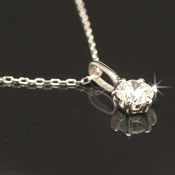 「あす楽対応」0.2ct 1粒 ダイヤモンド ペンダント ネックレス K18WG 18金ホワイトゴールド 「4P0134」【送料無料】 *