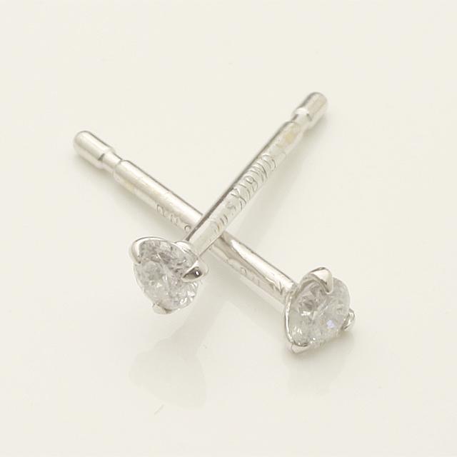 0.1ctダイヤモンドピアス3本爪「4pe0210」【送料無料】 *