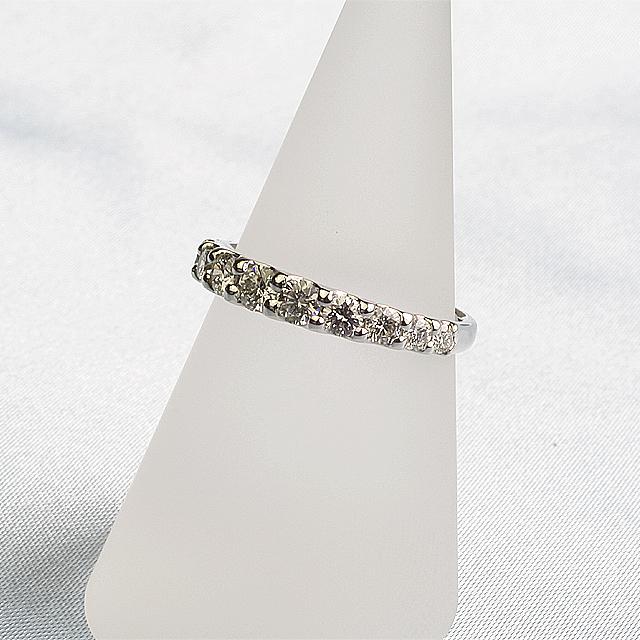 グラデーションハーフエタニティダイヤモンド指輪プラチナリングpt900「93390P」【送料無料】