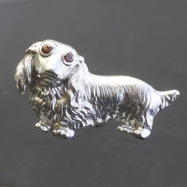犬ピンブローチK10WG「96154」【送料無料】 *