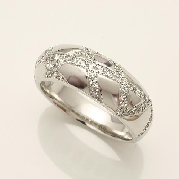 【送料無料】ダイヤモンドリング指輪ホワイトゴールドk18wg「914174W」 *
