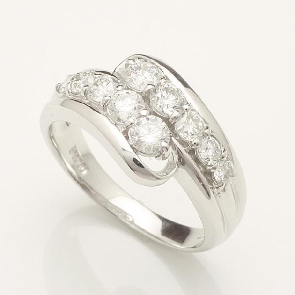 【送料無料】1.0ctアニバーサリーテンダイヤリング指輪プラチナダイヤモンドリング 「93334P」 *