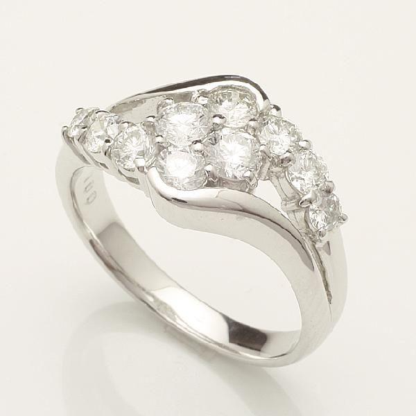 【送料無料】1.0ctアニバーサリーテンダイヤリング指輪プラチナダイヤモンドリング 「93336P」 *