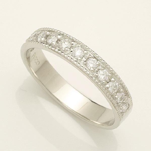 フチあり 0.3ct ダイヤモンド Pt900 プラチナ リング 2号~32号「93368P」【送料無料】 *