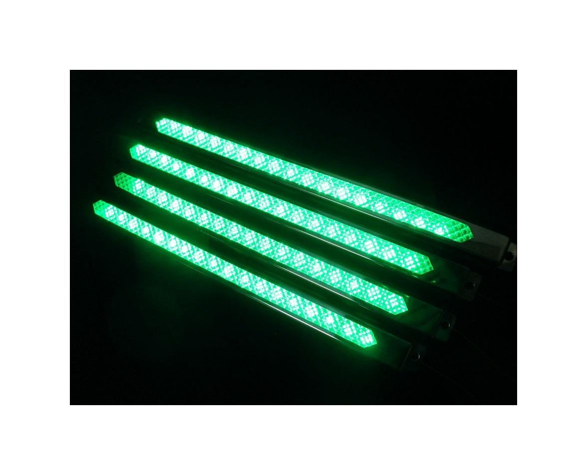 LEDテープによる鮮やかな発光による車高灯です 4本セット 入荷予定 車高灯 LEDモールアンドン 300mm セール品 グリーン