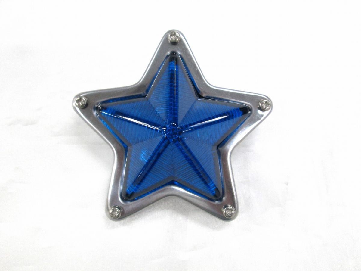 WEB限定 ワンポイント ミニサイズマーカー 在庫処分 ☆ ミニ星型マーカーランプ 青色 プラ製 ブルー ☆スター