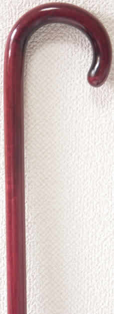 パープルハート小曲りステッキ(杖) 【送料無料】「シニア市場」