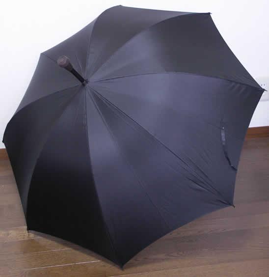 傘ステッキ ステッキ 傘 突ける傘「ステッキ傘 手開き L字型 黒」【送料無料】「シニア市場」