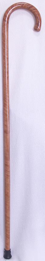 椿天然縞曲りステッキ(杖) 【送料無料】