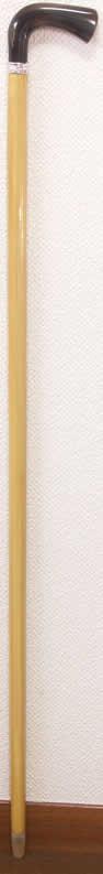 「最高級柘植(つげ)水牛L字型ステッキ 唐草純銀リング 細目」に「御蔵島無垢のつげのお箸」付 【送料無料】「シニア市場」