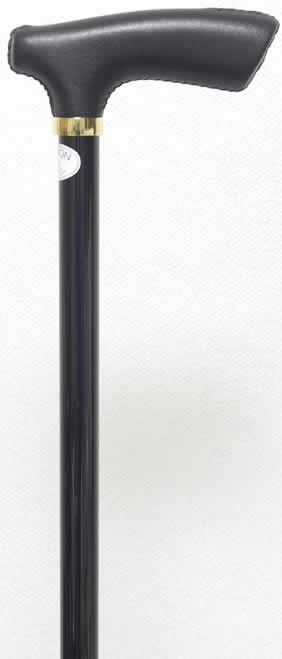 ステッキ 杖 カーボン素材 軽量ステッキ 牛革手元 「レザーカーボンステッキ(杖)ブラック ブラック」 【送料無料】「シニア市場」