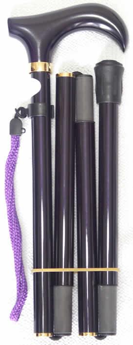 折りたたみ 折り畳みステッキ 軽量なステッキ 杖 カーボン 超軽量折りたたみカーボンステッキ 紫 【送料無料】