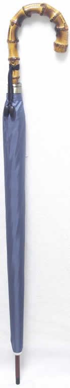 大人の逸品!皇室御用達前原光栄商店「前原傘 紳士用 ブルーグレー 手元寒竹」 【送料無料】【smtb-m】