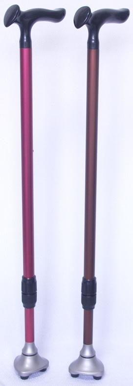 石突きに先ゴムが3個あるこれまでにない安定性抜群の杖 ニューサンポイントステッキ(交換用先ゴム3個付き) 【送料無料】