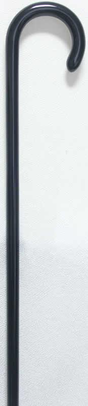 樫曲りステッキ(杖)ブラック 【送料無料】「シニア市場」