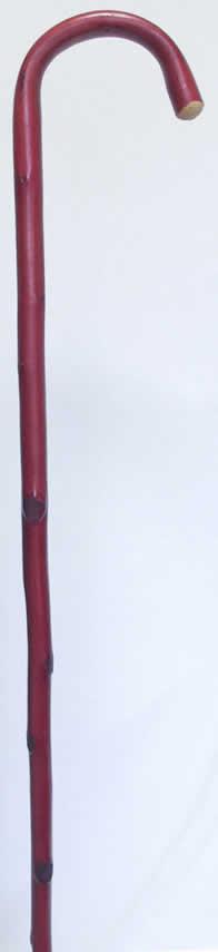 栗 超安い クリ 特別セール品 曲りステッキ 杖 送料無料 レッド シニア市場