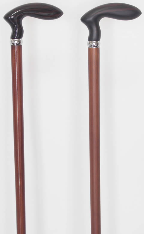 黒檀ゴルフ型さくら(桜)ステッキ 【送料無料】「シニア市場」