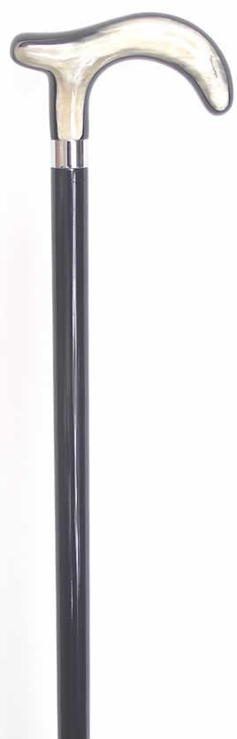 ステッキ ステッキ 杖 L字型 水牛角 ガストロック社ドイツ製水牛角L字型ステッキ  【送料無料】
