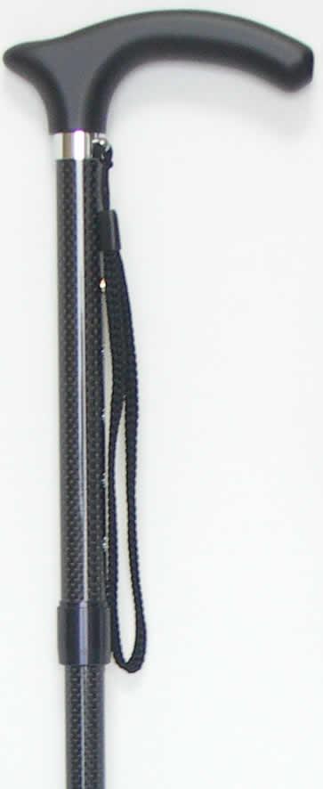軽量ステッキ 杖 押し込みピン式杖 カーボンステッキ 超軽量カーボン伸縮ピンステッキ 手元木製(楓) 【送料無料】