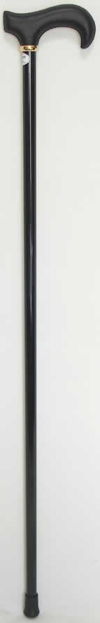Leather (leather wrapped) L-shaped carbon stick (cane) black Rakuten senior market