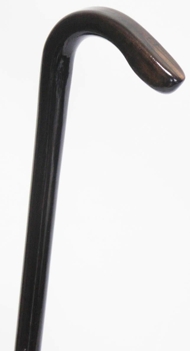 縞黒檀L曲りステッキ(杖)スネークヘッド型 L【送料無料】