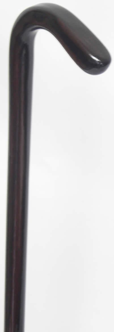 縞黒檀L曲りステッキ(杖)スネークヘッド型 M【送料無料】