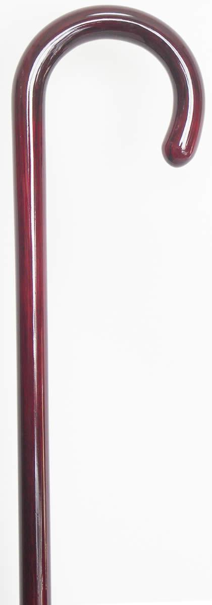紫檀曲りステッキ(杖) 【送料無料】「シニア市場」