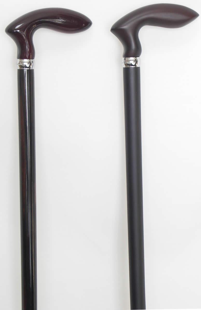 黒檀ゴルフ型黒檀ステッキ つやあり【送料無料】「シニア市場」