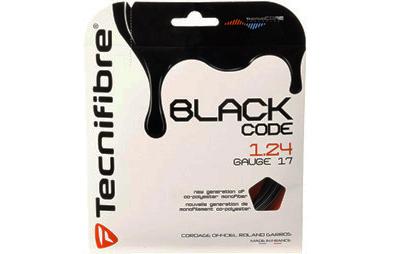 ■ ブラック コード が 張り代 無料 ブラックコード BLACK CODE サービス 128 限定モデル Tecnifibre 118 購入者用 124 ラケット ガット テクニファイバー