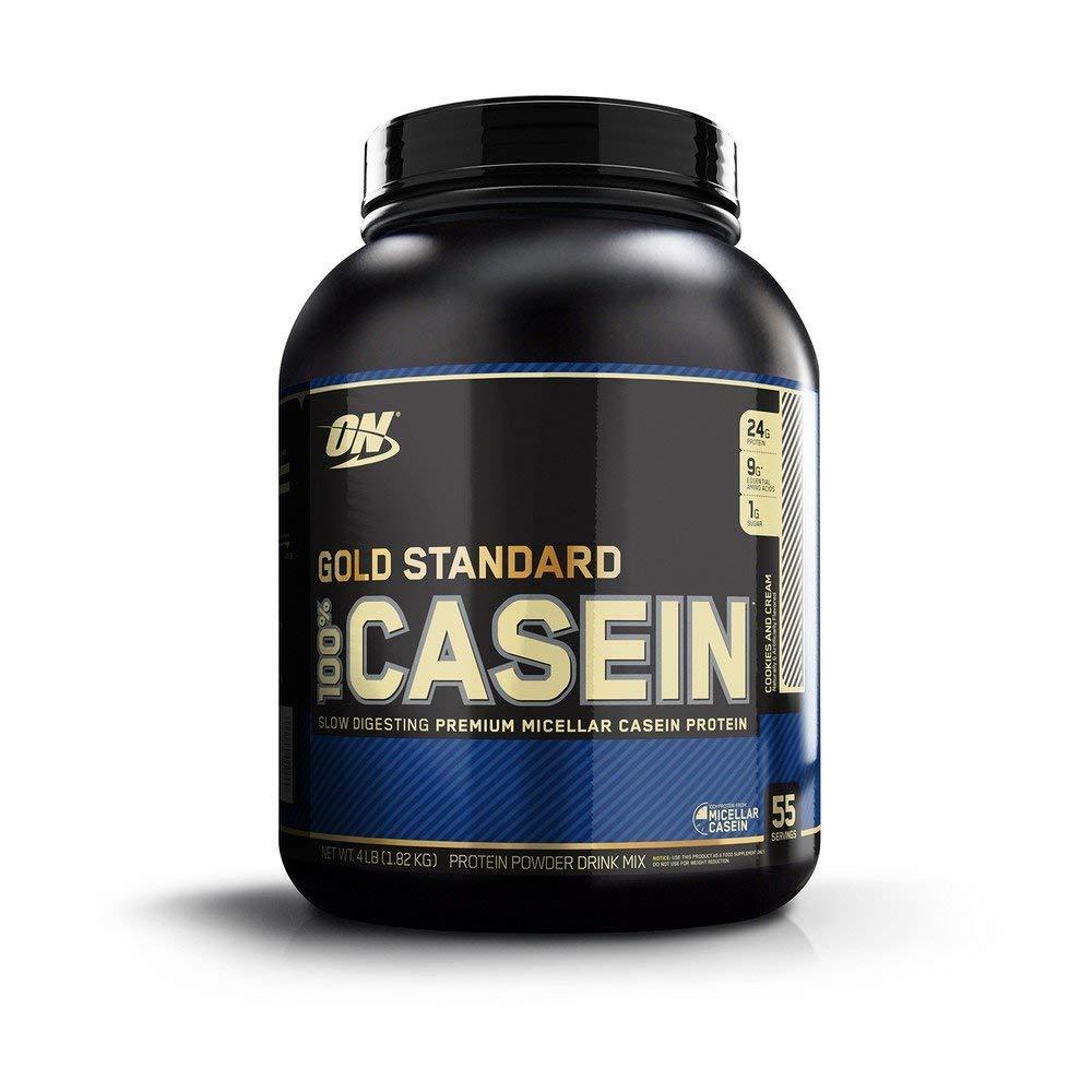 100% ゴールドスタンダード カゼインプロテイン クッキーズ&クリーム 4LB (1.82 kg) - Gold Standard 100% Casein Protein Cookie & Cream 4lb -