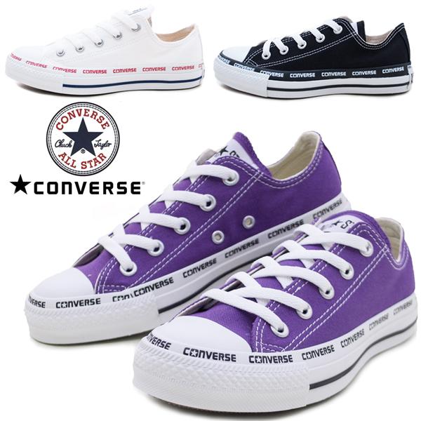 コンバーススニーカー ALL STAR LOGOFOXING OX レディース オールスター ロゴフォクシング CONVERSE 1SC264ブラック(黒) 1SC263 ホワイト(白) 1SC262 パープル(紫) オックスフォード ペタンコ /AN