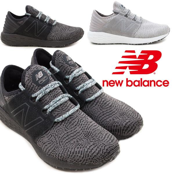 ニューバランス メンズスニーカー MCRUZDK2 MCRUZDS2 NewBalance 紐靴 スリッポン ウォーキングシューズ 紳士靴 FRESH FOAM CRUZ グレイ(DS2) ブラック(DK2) /MR