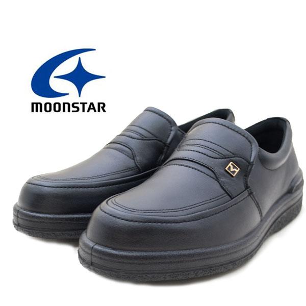 ムーンスター メンズ シューズ SPH3502 男性用 MOONSTAR コンフォート レザーシューズ 国産 ソフトな履き心地 4E 撥水加工 スポルス ビジネス ブラック(黒) /MR