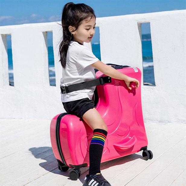 バッグ・小物・ブランド雑貨 バッグ スーツケース・キャリーバッグ ホット! 子供ファッションスケートボードローリング荷物 子供スピナー旅行トロリーケースかわいいスーツ上のキャリーケース