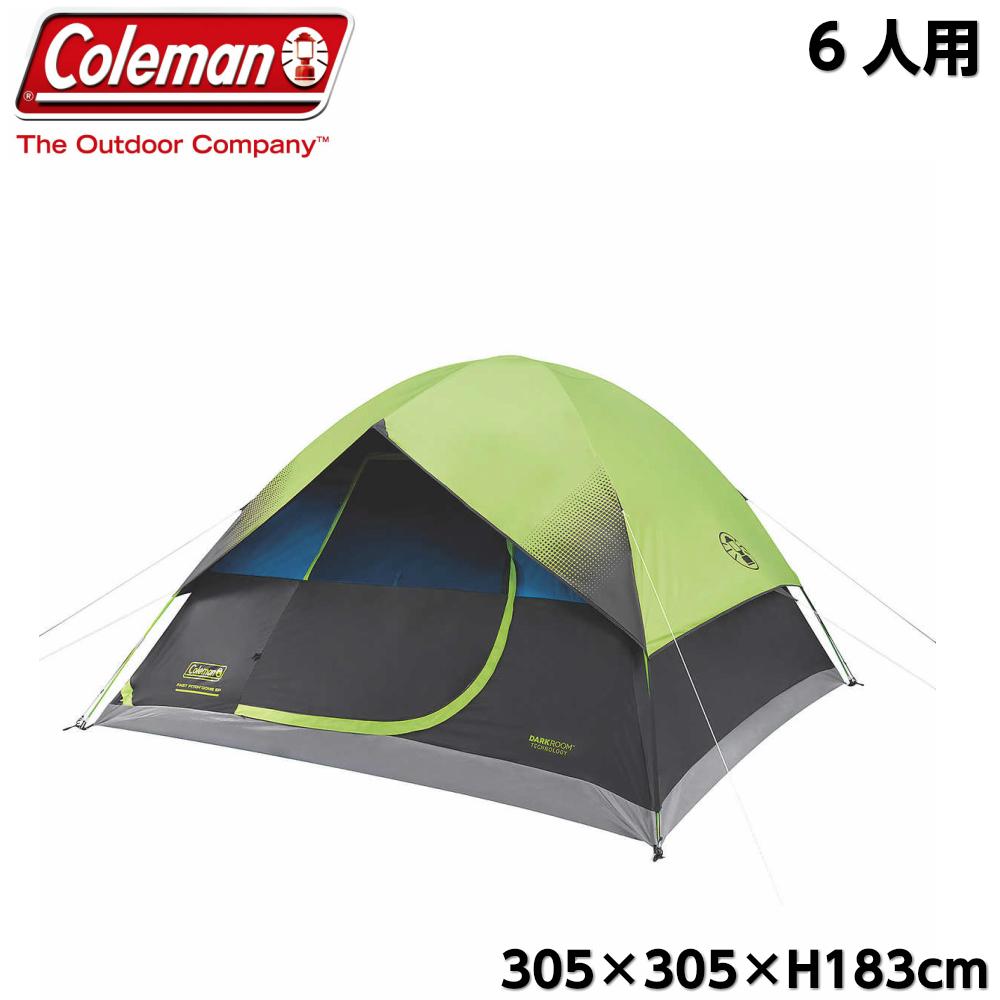 Coleman コールマン 6人用 ダークルーム ドームテント  ファストピッチ インスタントテント 大型テント スクリーン DARKROOM 6PERSON