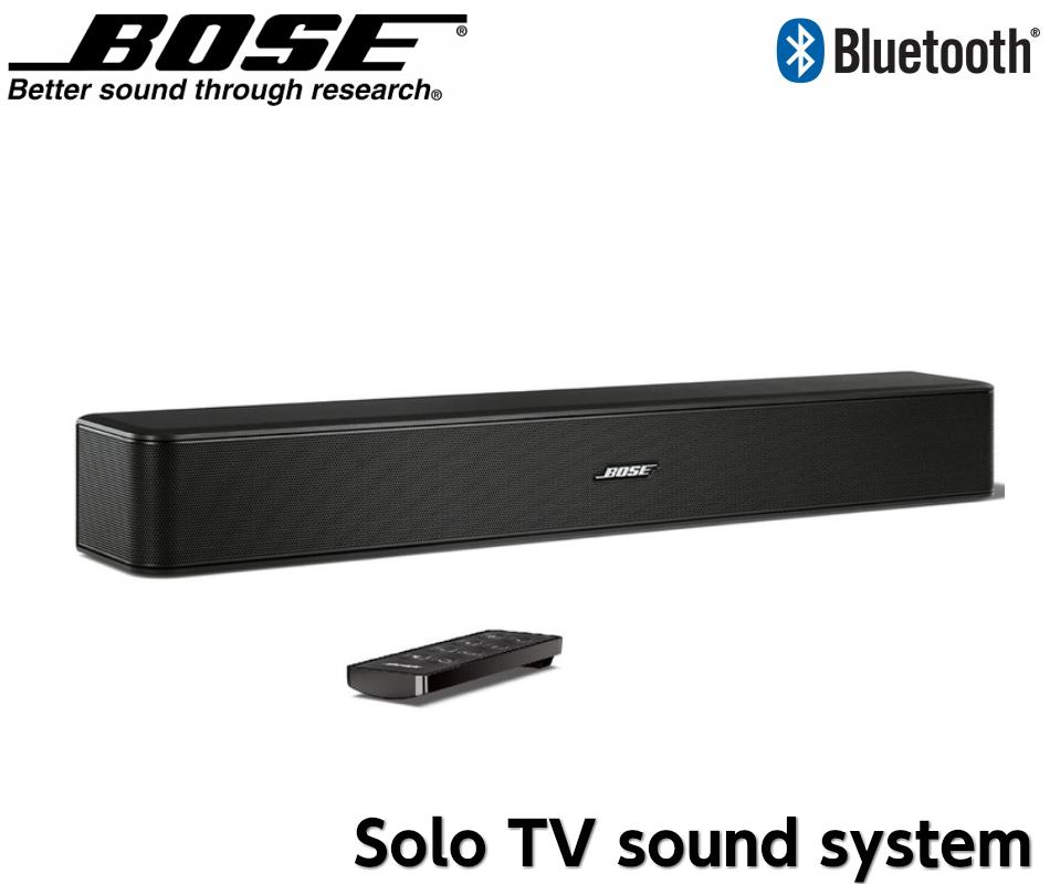 BOSE Bose Solo TV sound system ワイヤレス TV スピーカー ホームシアター サウンドバー Bluetooth ブルートゥース テレビ用スピーカー シアターバー ステレオスピーカー