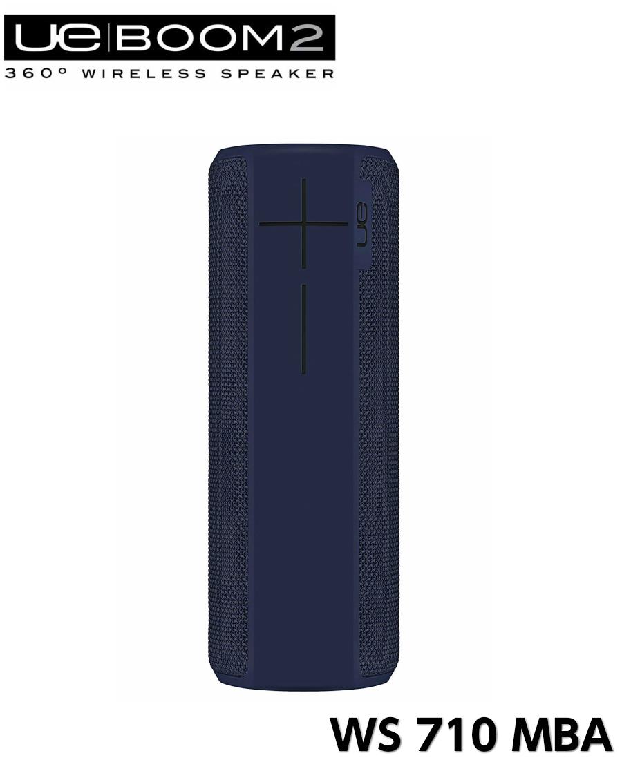 Ultimate Ears BOOM2 WS710MBA ミッドナイトブルー Bluetoothスピーカー ポータブルスピーカー ワイヤレススピーカー ブルートゥース スピーカー 防水 アルティメット イヤーズ UE ブルー ハンズフリー 濃紺 ネイビー インディゴ