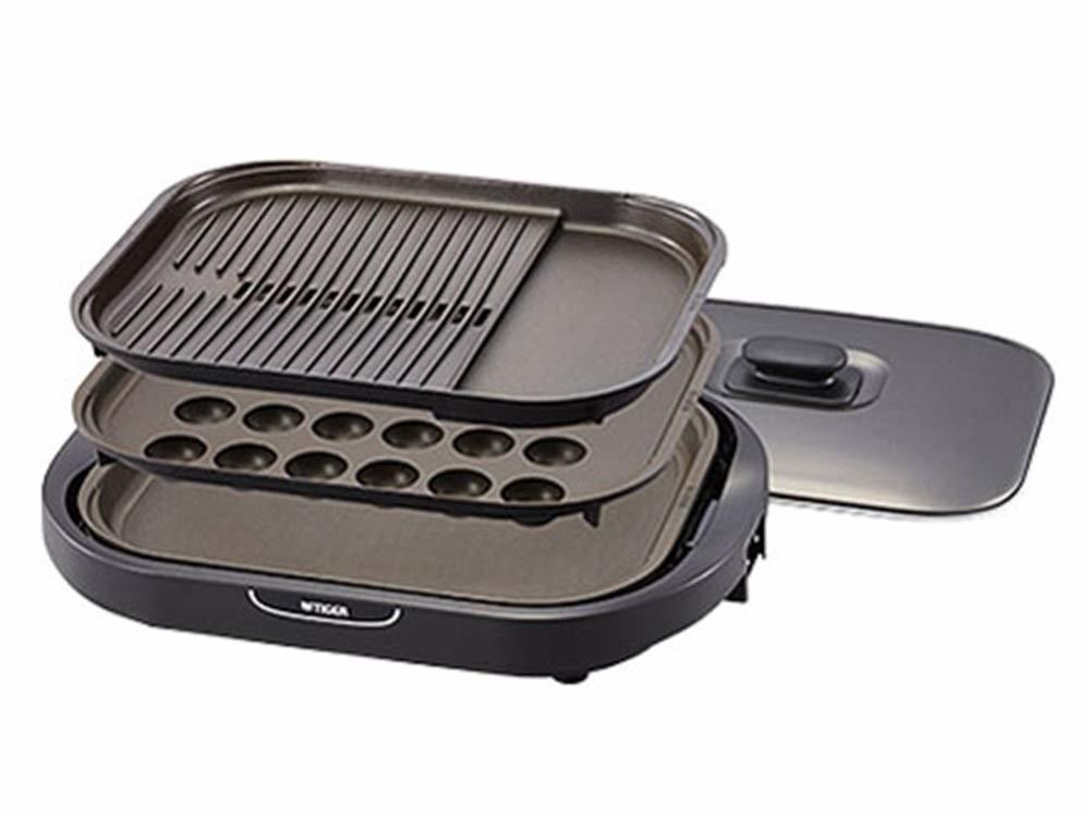タイガー ホットプレート これ1台 CRC-B301T  プレート3枚付き ホットプレート TIGER CRC-B301 たこ焼き・焼肉・お好み焼きがこれ1台で