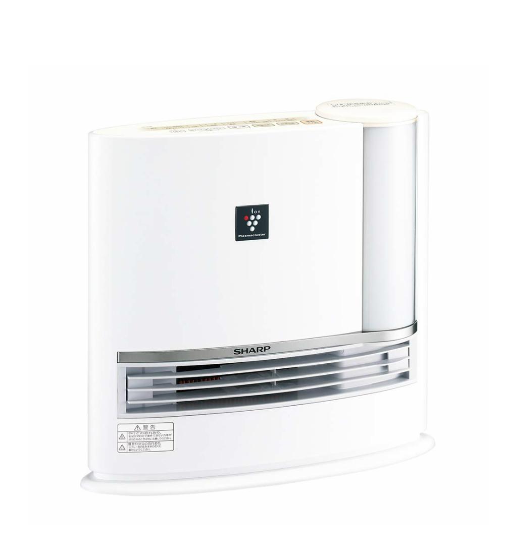 SHARP シャープ 加湿セラミックファンヒーター ホワイト系 HX-H120-W 加湿機能付き セラミックヒーター ファンヒーター ヒーター 加湿器 プラズマクラスター7000 暖房器具