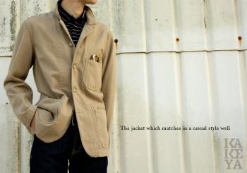∞ KAKEYA JEANS ∞ pre-made in japan-wool cotton jacket kakeya-jeans-woolcotton-jacket