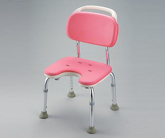 【ナビス】シャワーチェアU型背付コンパクト ピンク