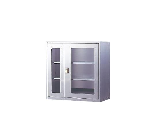 耐震薬品庫(薄型)W900G ガラス窓付 【アズワン】