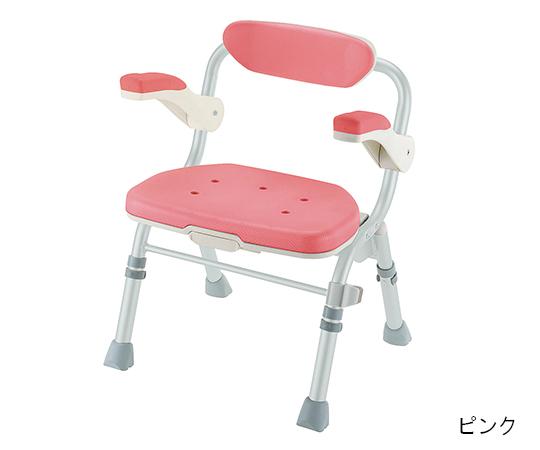 (J型) ピンク 折りたたみシャワーチェア