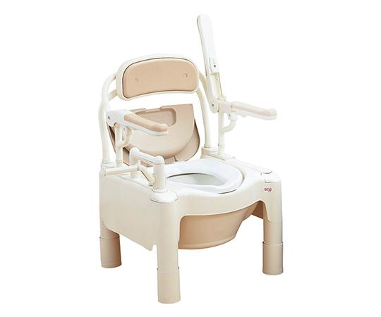 ポータブルトイレ FX-CPはねあげ(ちびくまくん) 快適脱臭・補高スペーサー付き