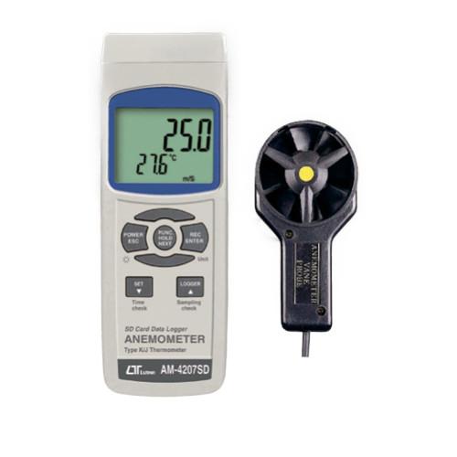 データロガー風速計 AM-4207SD 【アズワン】