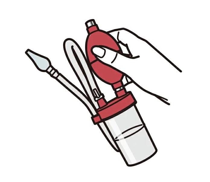 シーンを選ばず、いつでもどこでも吸引可能!喀痰対応の吸引力/丸洗い可能の簡易設計 【あす楽】【無電源タイプ】鼻水吸引器 ワンハンドアスピレーター [ HA-NS ] 特典付き【管理】
